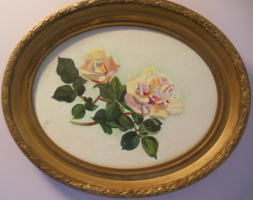 painting of single rose